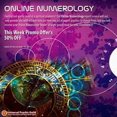 Feeling lost & in need of a #spiritualguidance? Our #OnlineNumerology report service will not only provide you with reliable forecast from our list of expert #psychics to choose from, but you will receive your Online #Numerology Report straight your e-mail for your convenience!