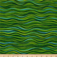 Laurel Burch Sea Spirits Metallic Waves Green from @fabricdotcom  Designed by Laurel Burch for Clothworks, this cotton fabric is perfect for quilting, apparel and home decor accents. Colors include aqua and green with gold, metallic accents.