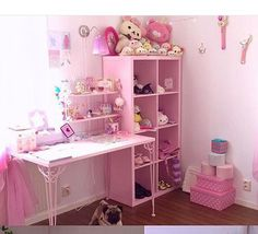 Cute pink room ! (Source:tumblr)