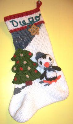 Crochet Parfait: Amigurumin Penguin Christmas Stocking Free Pattern