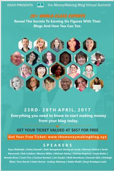 Learn how to get more traffic, and make more money with your blog #TheMoneyMaking #Blog #VirtualSummit -#Blogging #Bloggers #MomBlogger