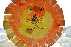 Paper plate lion!