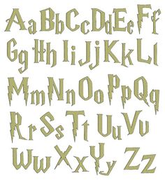 INSTANT Download - Harry Potter inspired digital embroidery font alphabet