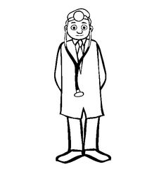 Free Occupations Coloring Pages. Color in this picture of a Doctor and others with our library of online coloring pages. Online Coloring Pages, Cartoon Coloring Pages, Coloring Pages For Kids, Coloring Sheets, Kids Coloring, Octopus Coloring Page, Doctors Day, Painted Rocks, Painting