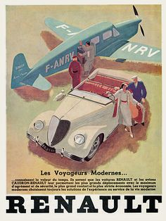 Renault  'Modern Travellers..'. 1936  https://www.vintagevenus.com.au/vintage/reprints/info/TR353.htm
