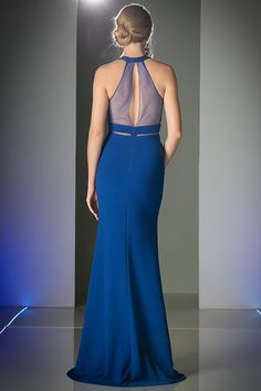 BG1825 in royal blue in store now. This floor length, sleeveless, high neck with mesh back and midriff is on trend. With it's elegant soft mermaid skirt you cannot go wrong. Available for hire too. Come and visit us in Albany village. See more evening and ball gown options on http://bridalandball.co.nz/ball-gowns/