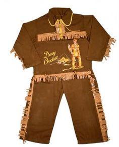 Davy Crockett costume 1950's
