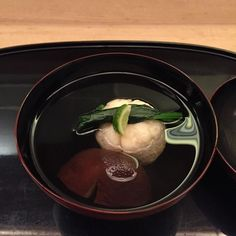 Sixth course: fish ball and mushroom in dashi with a hint of yuzu. The fish ball has a chunky and only slightly chewy texture and tastes divine by janejx