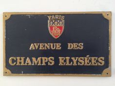 Vintage French Parisian Blue Street Sign by LePasseRecompose