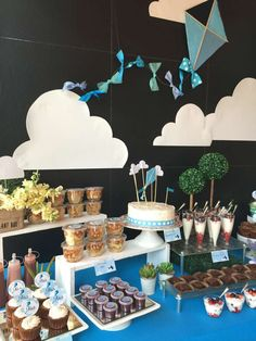 Dessert table at a kite birthday party! See more party ideas at CatchMyParty.com!