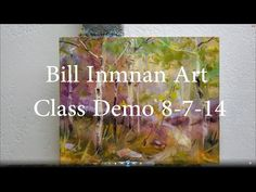 Art Class Demo Oil Painting Aspen Trees 8-7-14 by Bill Inman Art - YouTube