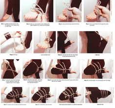 Self Bondage Step by Step - Bing images Japanese Rope, Leg Harness, Rope Tying, Rope Art, Rope Knots, Art Tutorials, New Orleans, Hair Accessories, Sailor Knot