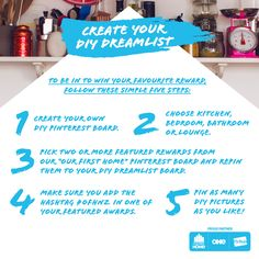Follow these simple 5 steps to be to WIN your favourite reward! Diy Kitchen, Kitchen Ideas, Latest Gadgets, First Home, Natural Light, Create Yourself, Diy Bedroom, Simple, Lounge Ideas