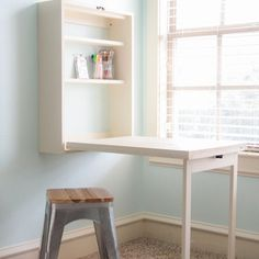Check out this project on RYOBI Nation - Hey guys!  So excited to be sharing my latest project over here on Ryobi Nation! With school just around the corner, I thought it would be fun to design a desk to fit a small space.  With 5 kiddos to find space for, I am always trying to think of ways to maximize space and function at the same time.