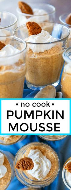 No bake pumpkin dessert: pumpkin mousse made with white chocolate and ...