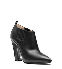 Lacy Leather Ankle Boot