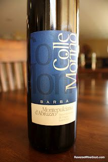 Fratelli Barba Colle Marino Montepulciano d'Abruzzo 2009 - Soft, Smooth and Savory. $8, http://www.reversewinesnob.com/2012/09/barba-colle-marino-montepulciano-dabruzzo.html