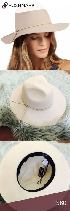 Tart Indy Wide Brim Hat in Taupe Tart Womens 100% Wool Felt Indy Fedora Hat Tan Brown Beige Taupe One SizeBrand new with tags  The Indy hat is a cool spin on wardrobe classic.  This beige colored fedora has a wider brim.  Made from wool. One Size Tart Accessories Hats