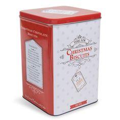 Boîte à biscuits en métal rouge H ...