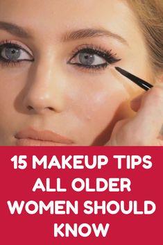 15 Makeup Tips All Older Women Should Kn. - 15 Makeup Tips All Older Women Should Know About (Slideshow) - Beauty Make-up, Beauty Secrets, Beauty Skin, Health And Beauty, Beauty Hacks, Hair Beauty, Natural Beauty, Beauty Care, Organic Beauty