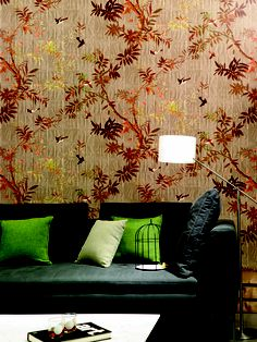 Wall covering from Pleats, Elitis, Goodrich Global. #GoodrichGlobal #PoshLiving #GoodDesign