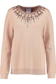 Hervé LégerAne crystal-embellished stretch-jersey top