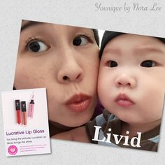 Younique by Nora Lee (and baby) - Lucrative Lip Gloss, color Livid.  https://www.youniqueproducts.com/prettywomen/products/view/US-21801-00#.Vhnx11VHanM