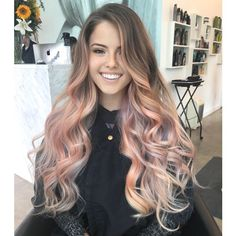 Pastel Pink And Purple Balayage Haircolor Formula Have a client who wants to give her virgin hair a color refresher? Check out this pastel pink and purple balayage haircolor formula from Melannie Millan! Purple Balayage, Balayage Hair, Light Pink Hair, Ombre Hair Color, Pastel Pink Ombre Hair, Pink Purple Hair, Hair Videos, Hair Looks, New Hair