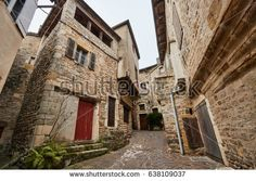 Severac le Chateau medieval village, is a former commune in the Aveyron department in southern France.