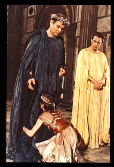 QUO VADIS? (1985)  The Austrian actor Klaus Maria Brandauer played the Emperor Nero, in this six-part mini series, which adapted the immortal work of Henryk Sienkiewicz. The performance is slow and lacks pace, despite the notable interventions same Brandauer, Max von Sydow in the role of the apostle Peter, Angela Molina as Acte and Frederic Forrest in the role of Petronius. Klaus Maria Brandauer, Hail Caesar, Max Von Sydow, Julius Caesar, Emperor, Ancient History, Actors, Film, Movies
