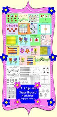 It's Spring! Interactive Smartboard Activities for Smart Board Activities, Smart Board Lessons, Hands On Activities, Learning Activities, Teaching Materials, Teaching Tools, Teacher Resources, Teaching Ideas, Teaching First Grade