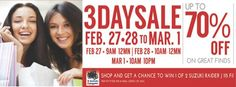 SM FAIRVIEW'S 3DAY SALE IS ON! Shop at SM Store from Feb 27 to March 1 and get this Multi-purpose table at 50% off.