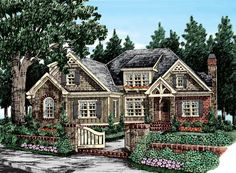 Eplans Cottage House Plan - Beautiful Ceilings - 3125 Square Feet and 4 Bedrooms from Eplans - House Plan Code HWEPL12822