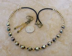 Bronze FRESHWATER PEARL Crystal Czech Bronze Tn NECKLACE Earrings Set 19 Inches #BusyBeeBumbleBeads