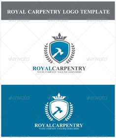 Royal Carpentry Logo — Photoshop PSD #logo template #blue • Available here → https://graphicriver.net/item/royal-carpentry-logo/6944712?ref=pxcr