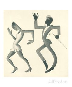 Miguel Covarrubias - 'The Stomp' from the 'Theatre' section of Negro Josephine Baker, Harlem Renaissance, Art And Illustration, Vintage Dance, Retro Vintage, Dance Paintings, Art Deco, Different Art Styles, Dance Art