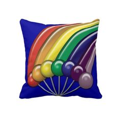 Lollipops and Rainbows Customizable Pillow $59.95