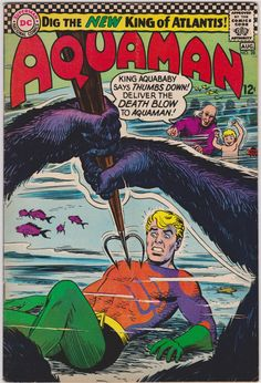 Aquaman Series) 28 Cover art by Nick Cardy Dc Comic Books, Vintage Comic Books, Comic Book Covers, Vintage Comics, Dc Comics, Aquaman Comics, Silver Age Comics, Old Time Radio, Dc Universe