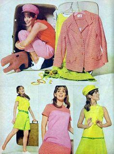 1960s Travel Summer Separates