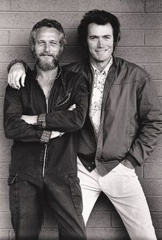 Paul Newman and Clint Eastwood.  Clint had such a nice smile in his younger years.