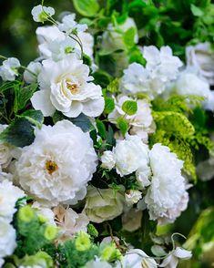 Pack von 12 Künstliche Rose Hortensie Flower Wall Panels Hochzeit