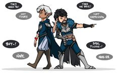 Fenris gets to Hawke before Adamant