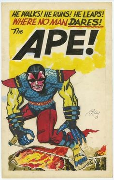 Jack Kirby and apes! Marvel Comic Universe, Comics Universe, Marvel Comics, Comic Book Artists, Comic Books Art, Comic Art, Comic Book Writing, Peter Chan, Inge Morath