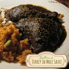 Everyone can enjoy this traditional Mexican Thanksgiving and Christmas dinner recipe of Turkey in Mole Sauce (Mole Poblano de Guajolote) dinner.