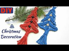The picture called DIY Macrame Christmas Tree Decoration How To Make Christmas Tree, Christmas Tree Pattern, Easy Christmas Crafts, Outdoor Christmas Decorations, Christmas Projects, Simple Christmas, Christmas Tree Ornaments, Christmas Ideas, Christmas Gifts