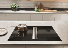 Induction hob & downdraft extractor combined