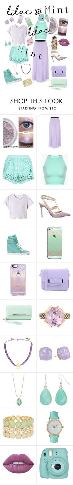 """Lilac and mint"" by queenlisa2601 ❤ liked on Polyvore featuring New Look, Rebecca Taylor, Valentino, Casadei, Casetify, Pieces, Charlotte Russe, Maiko Nagayama, Arsha Jewellery and Kate Spade"