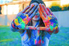 Tumblr neon paint
