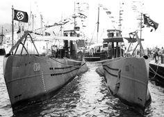 U 21 and U 20 both type IIB German Submarines, Armada, War Machine, Battleship, Sailing Ships, Ww2, World War, Past, Military