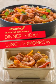 Our Slow Cooker Chicken and Sausage Jambalaya recipe is a down-South comfort-food favorite! Pack leftovers in a Reynolds Disposable Heat & Eat container for a lunch at work worth writing home about. Our containers are made from plant fibers, so they're perfect for the microwave and a great alternative to plastic. Plus, cleanup is quick and easy!